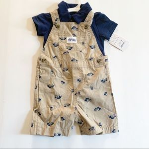 Carter's | Baby Boy Dog Overall shorts set NWT